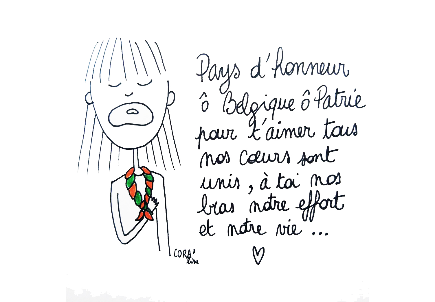 Dessin du jour 21juillet fete nationale belge hymne national brabanconne version mouvement de jeunesse