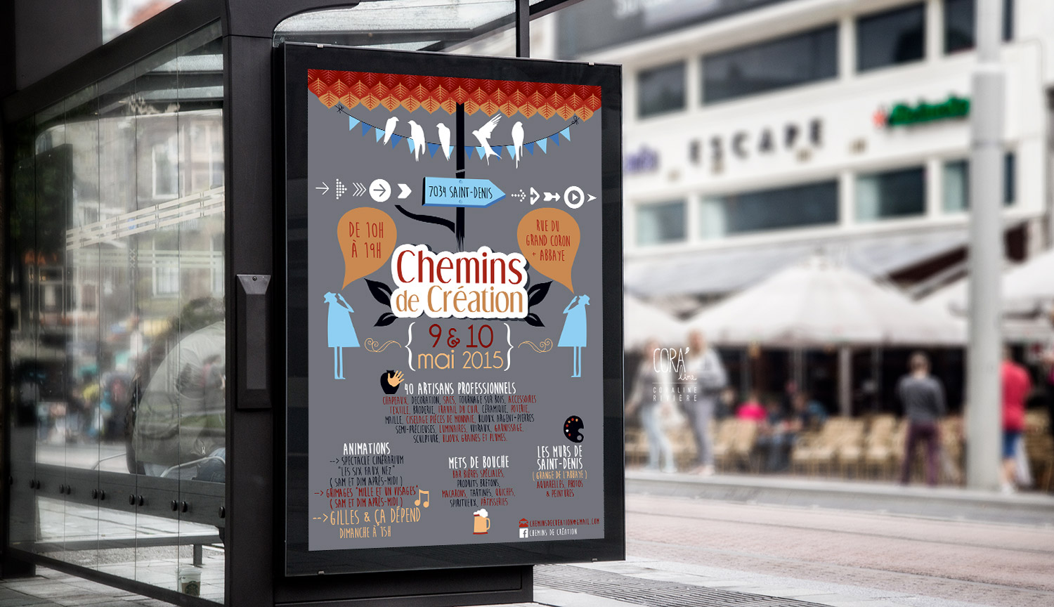 affiche chemins creation saint denis marche createurs1