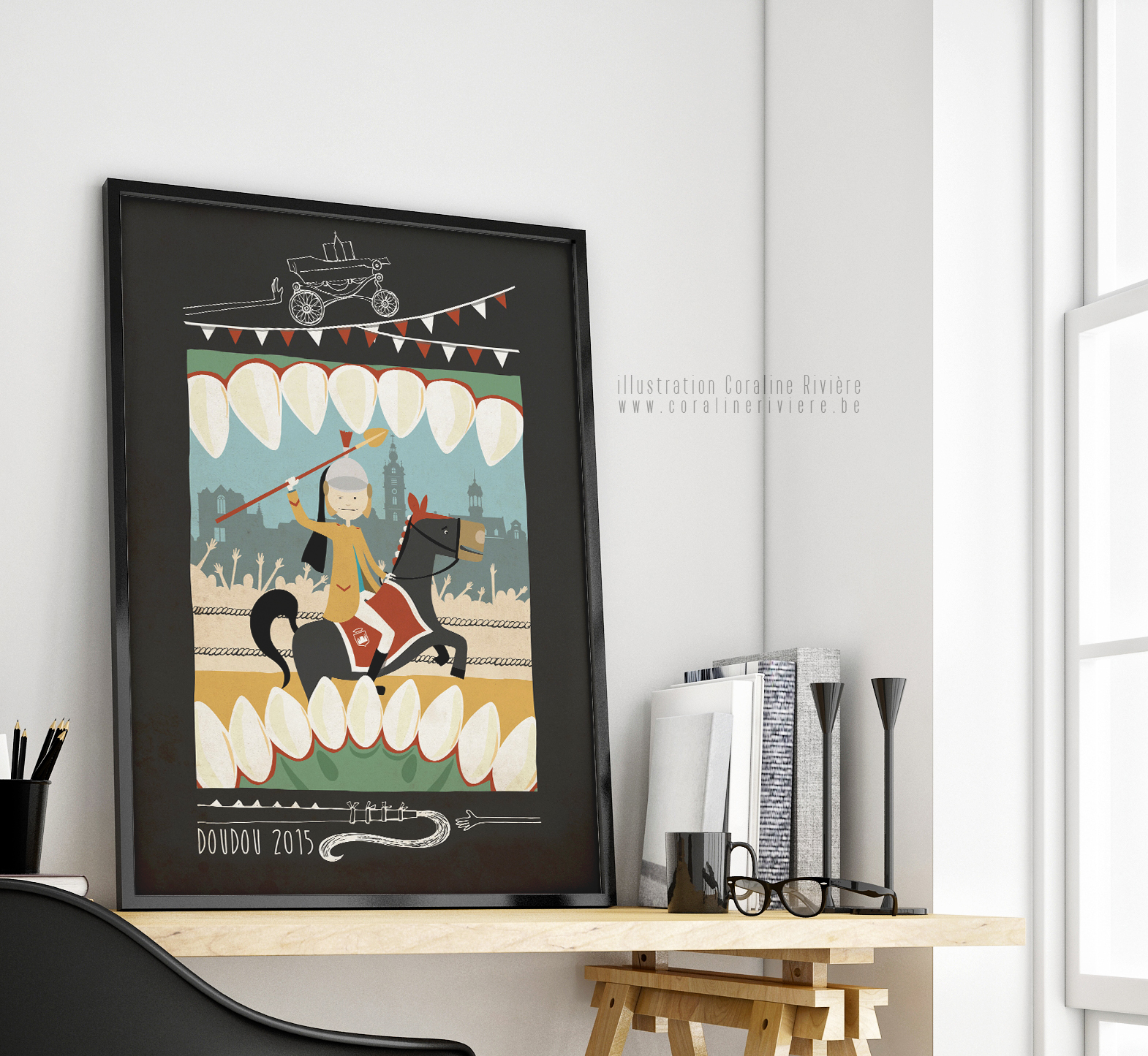 affiche concours doudou illustre ducasse mons2015