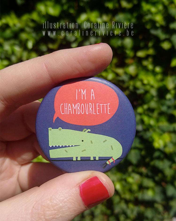 badge chambourlette ducasse mon doudou cadeau invite