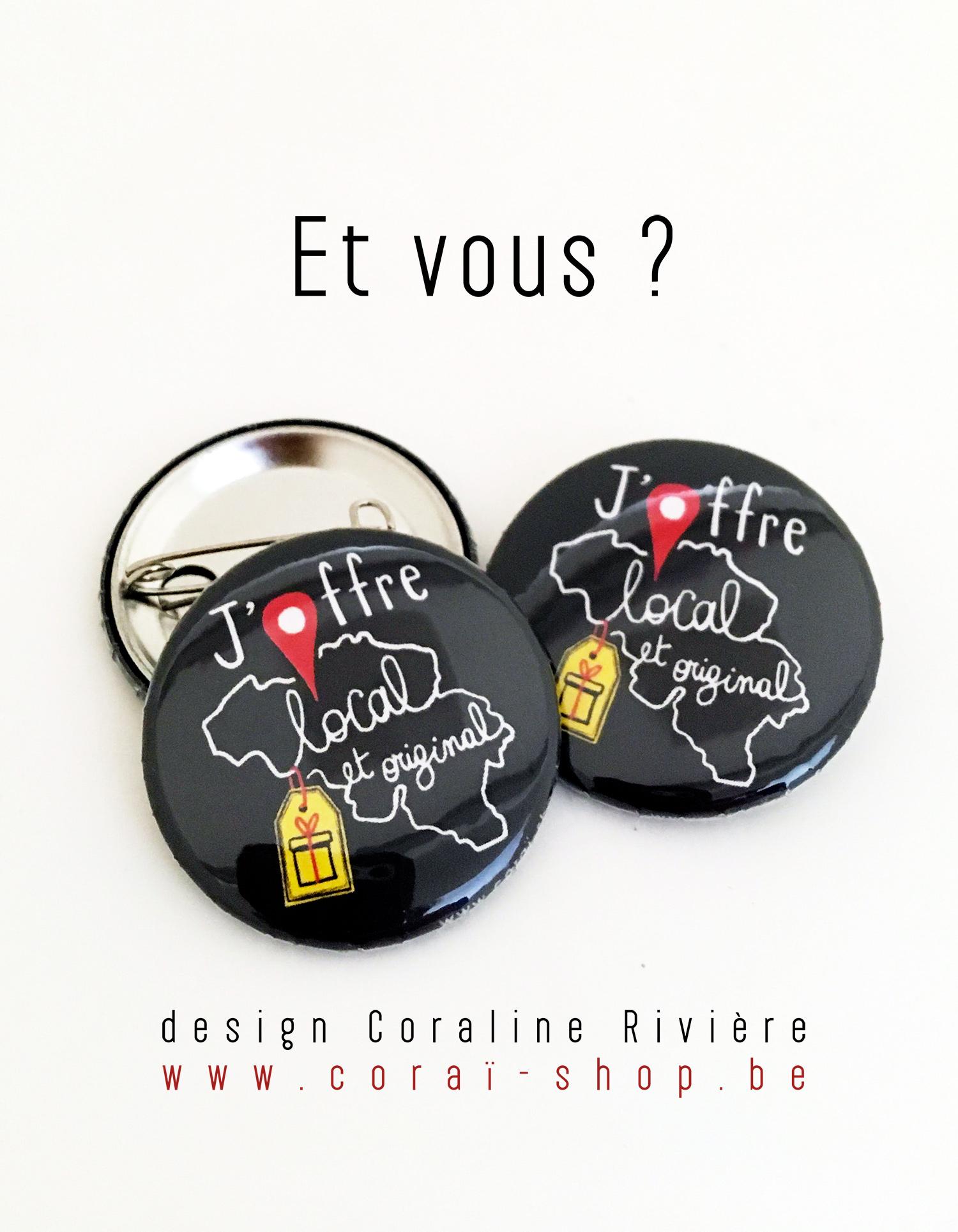 badge slogan belgique j offre local et original artisan producteu artiste