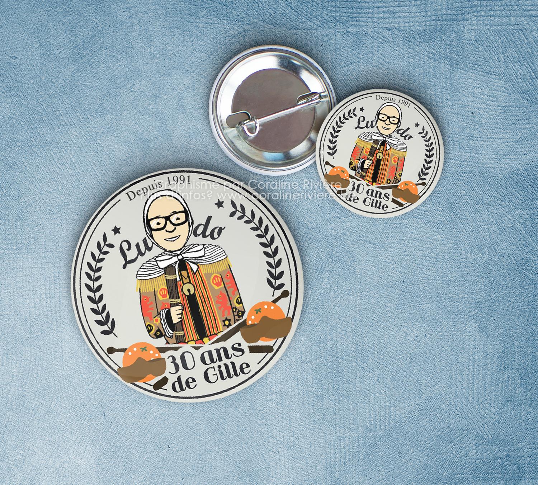 badge trente 30 ans gilles de binche cadeau amis famille fete