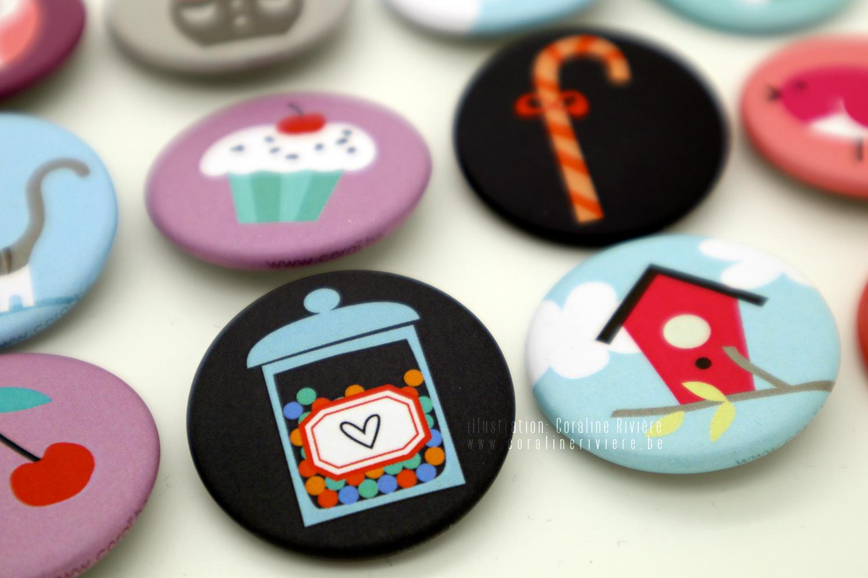badges collection enfants marque corai createur