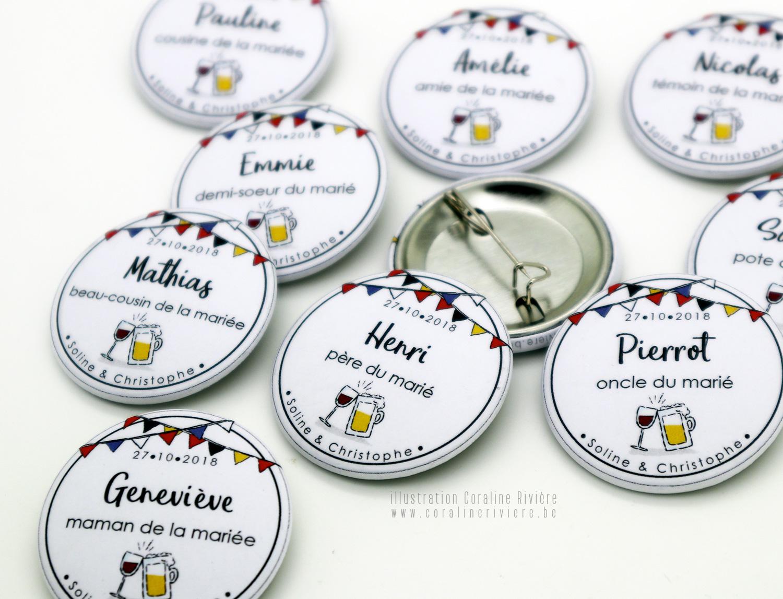 badges prenoms invites mariage