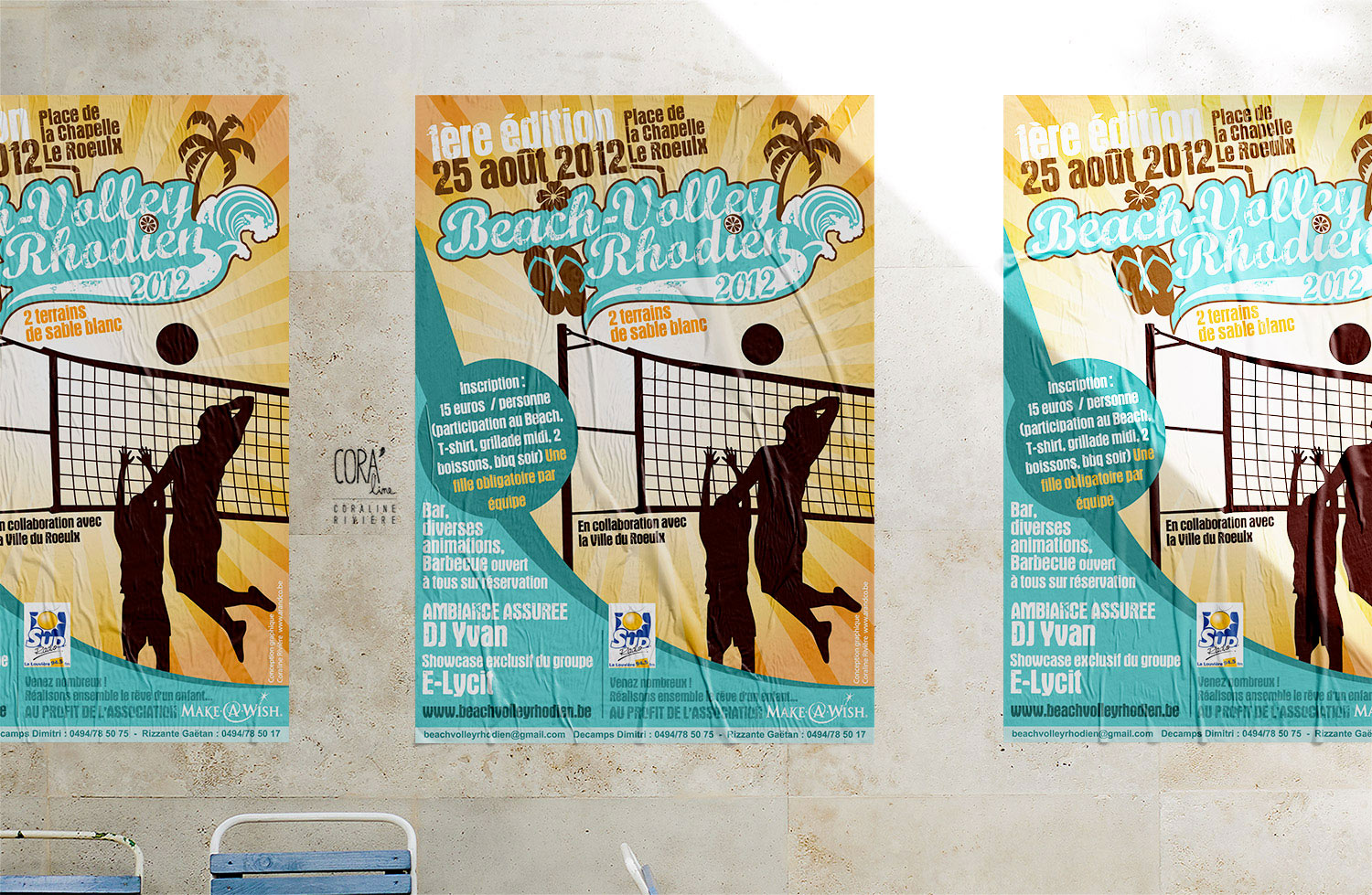beach volley affiche tournoi volley ball