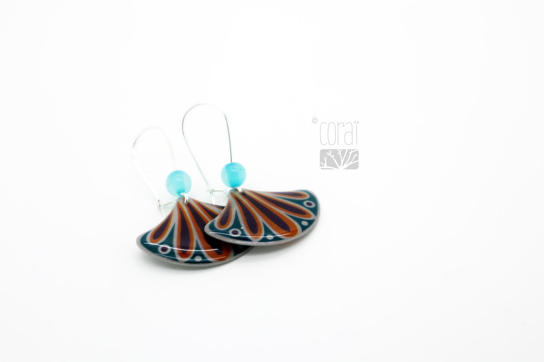 boucles oreille eventail couleur creation marque corai bijoux fantaisie