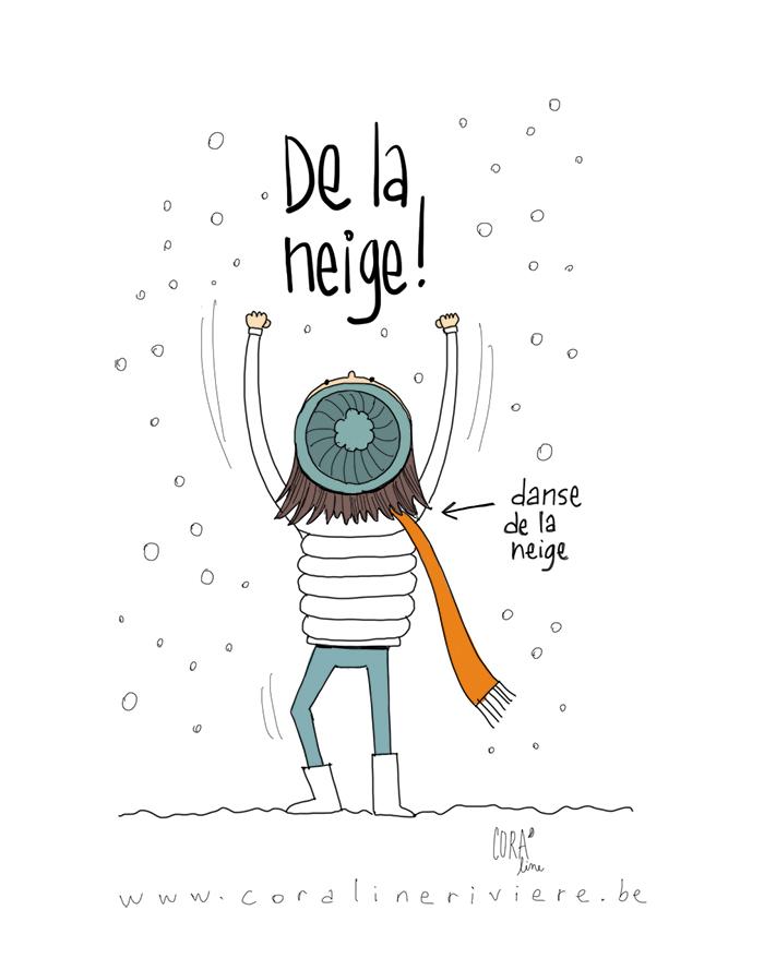 ca y est il neige joie bonheur impatience danse de la neige