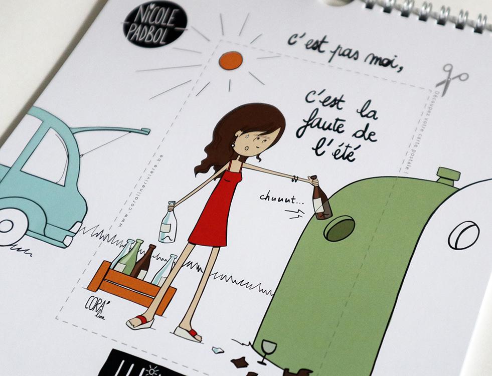 calendrier 2020 belge dessins humour saison boire apero soleil