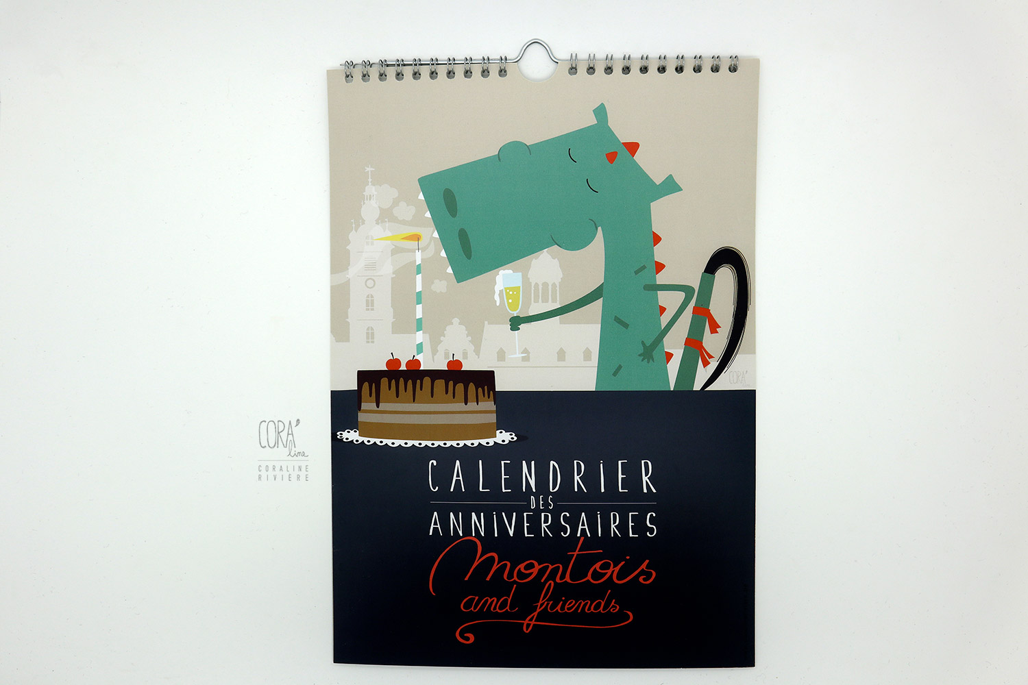 calendrier anniversaires montois and friends illustrations coraline riviere