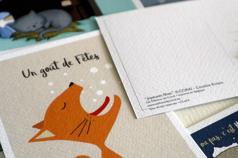carte de voeux humour chat illustrations coraline riviere