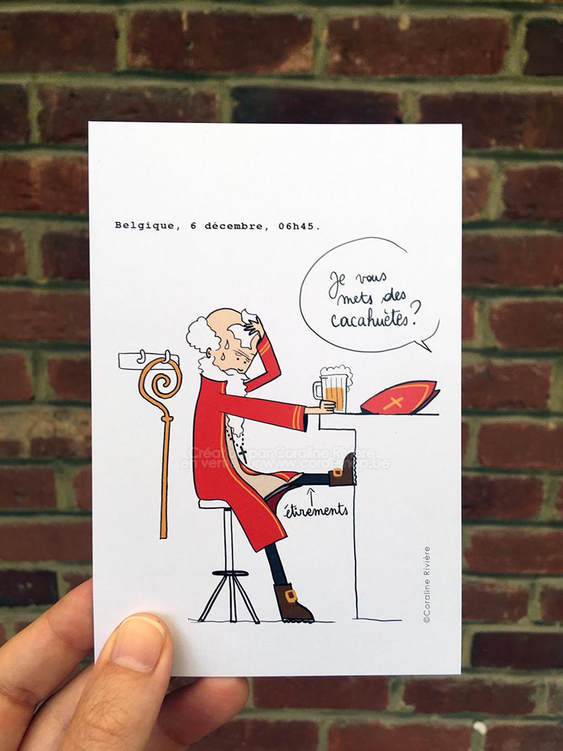carte postale himour belge saint nicolas 6 decembre