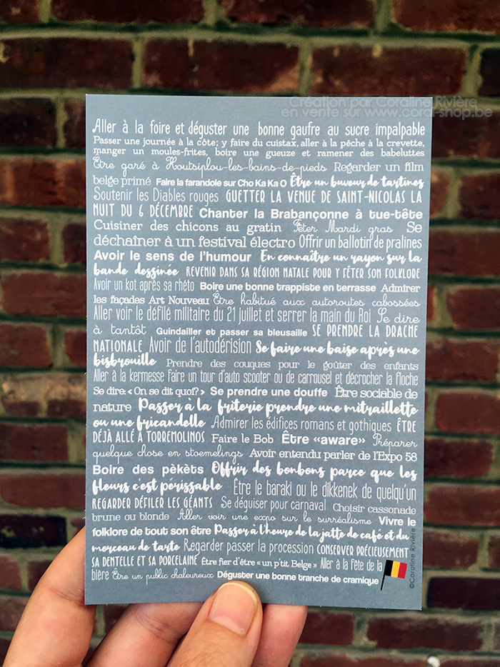carte postale phrases humour belge belgitude expressions belges coutumes belges