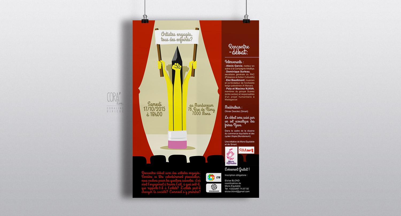 creation affiche debat statut d artiste1