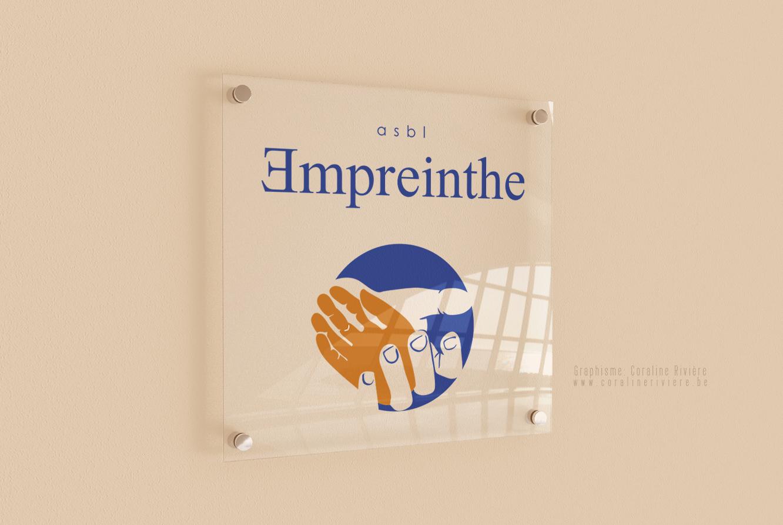 creation logo asbl empreinthe mains aide a la personne massage ecriture langage signe