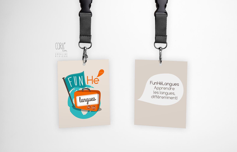 creation logo cours de langues particuliers fun he langues apprendre les langues loisirs anglais neerlandais