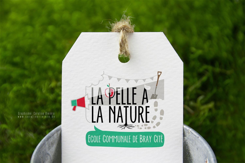creation logo ecole nature apprentissage enseignement enfant
