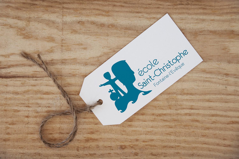 creation logo ecole saint christophe lettrage symboles 2