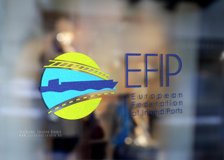 creation logo efip transport fluvial europe