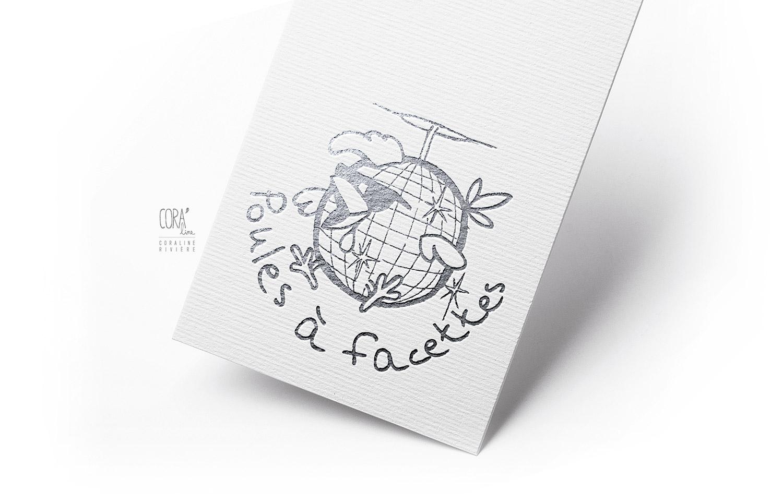creation logo graphisme poules a facettes