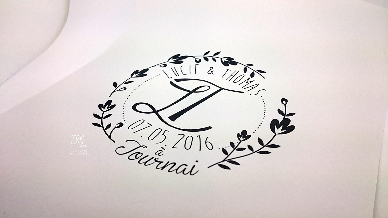 creation logo mariage noms entrelaces jeunes maries logo tampon pour envellope