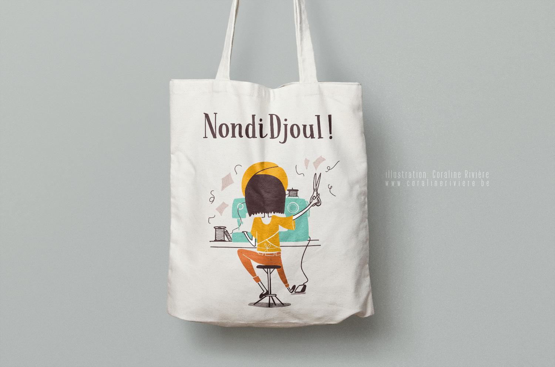 creation logo nondidjoul creatrice couture mercerie zero dechet