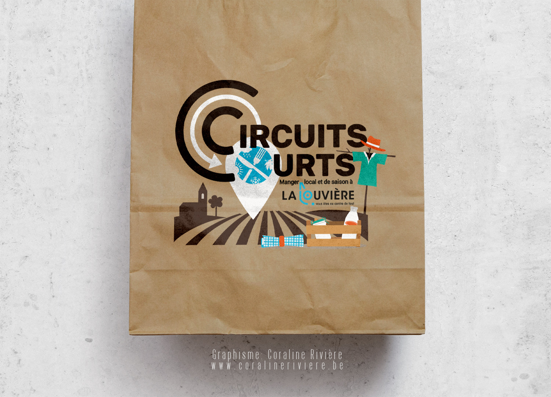 creation logo pour ville la louviere belgique circuits courts manger bio local region