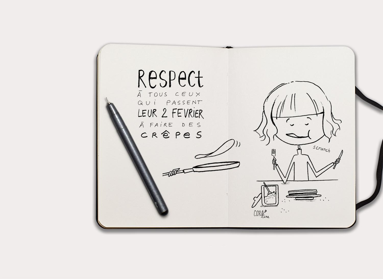 croquis dessin illustration chandeleur crepes manger crepes faire crepes 2 fevrier1
