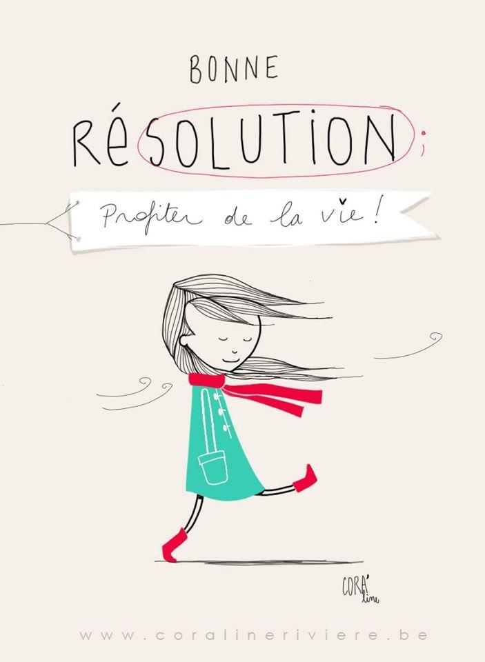 dessin bonne resolution profiter de la vie enjoy