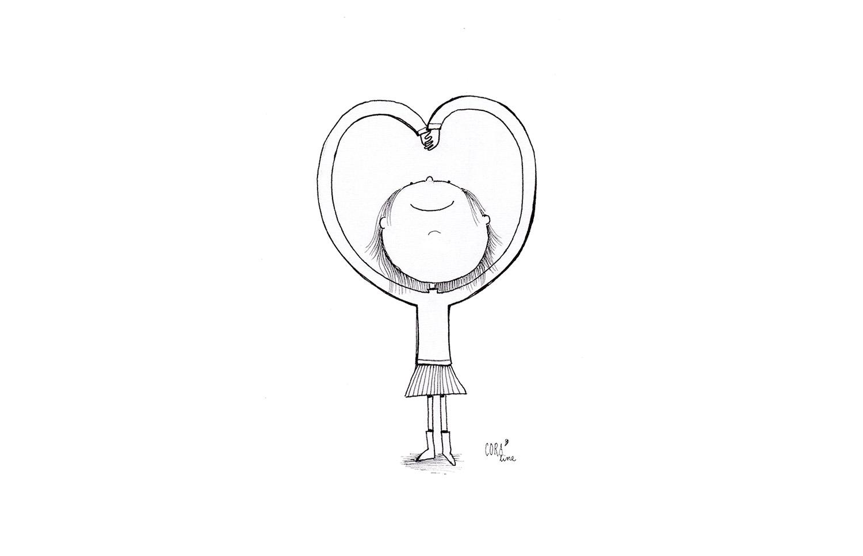 dessin coeur avec les bras saint valentin fete des amoureux