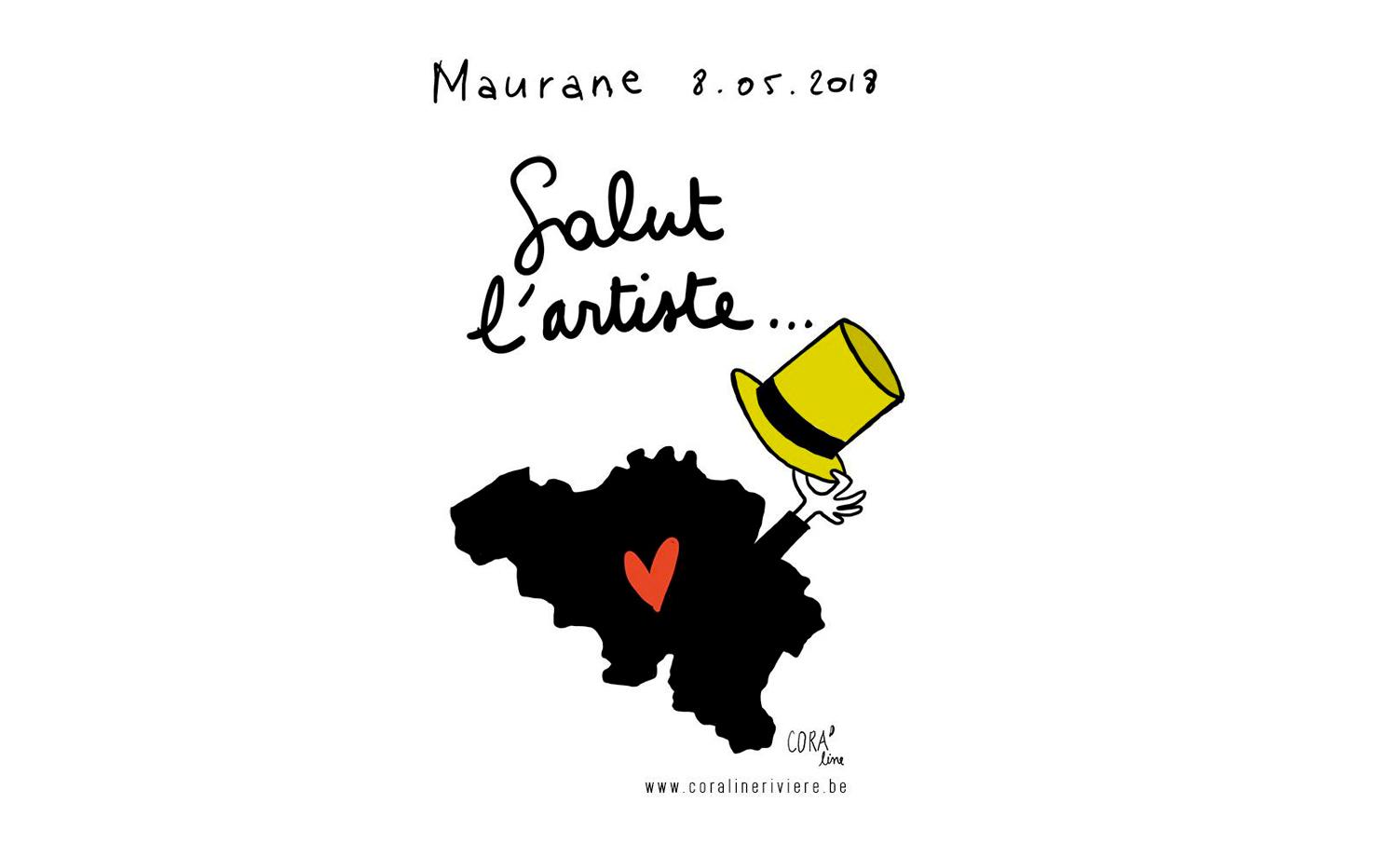 dessin du jour hommage mort maurane artiste belge 8 mai 2018