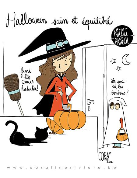dessin humour halloween pas de bonbons soupe au potiron