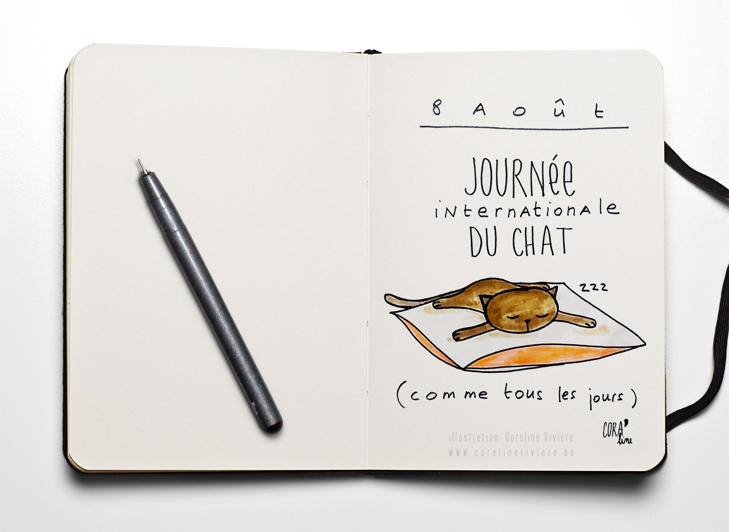 dessin journee internationale du chat 8aout