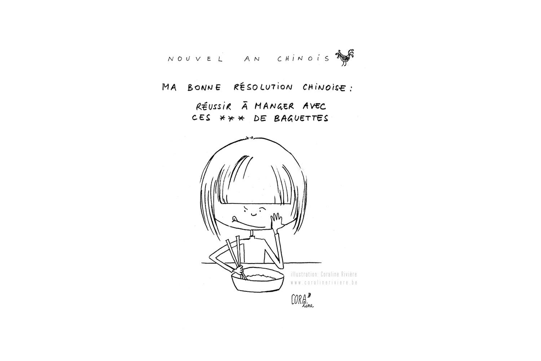 dessin nouvel an chinois reussir a manger avec baguettes1