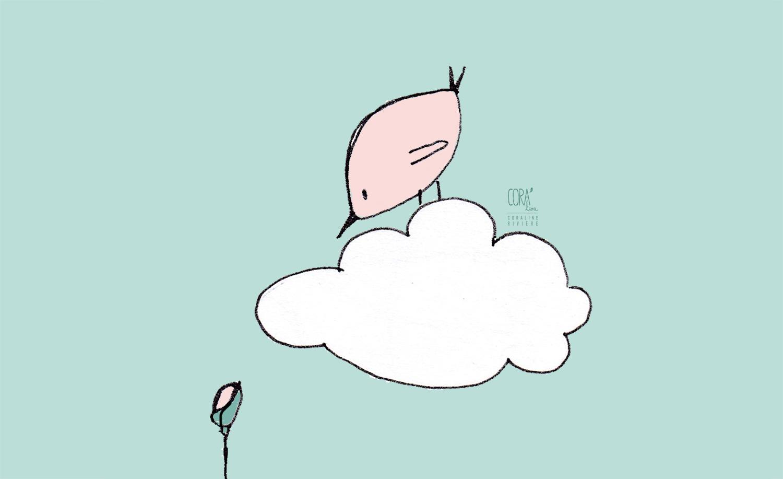 dessin oiseau bienvenue printemps