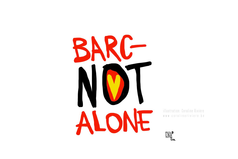 dessin souvenir journee attentats barcelone 2017 jeux de mots barc not alone