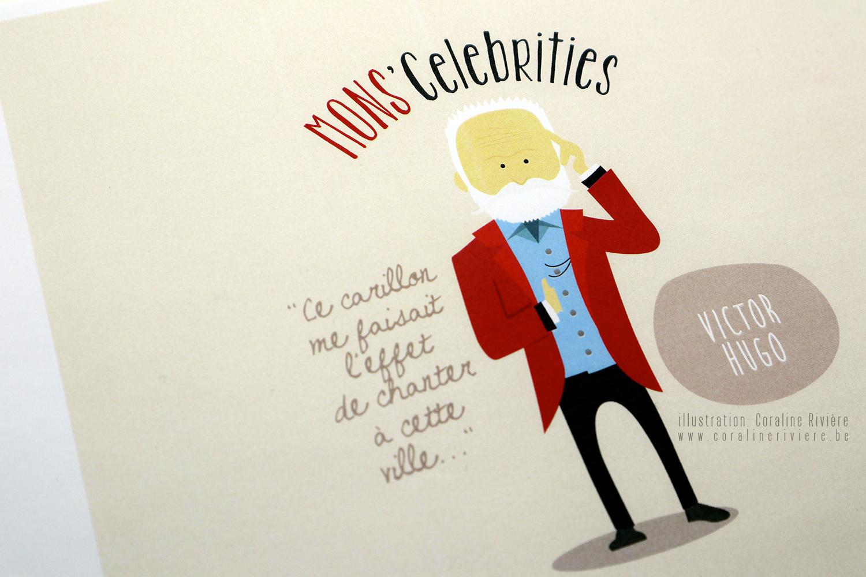 dessin victor hugo celebrite mons belgique