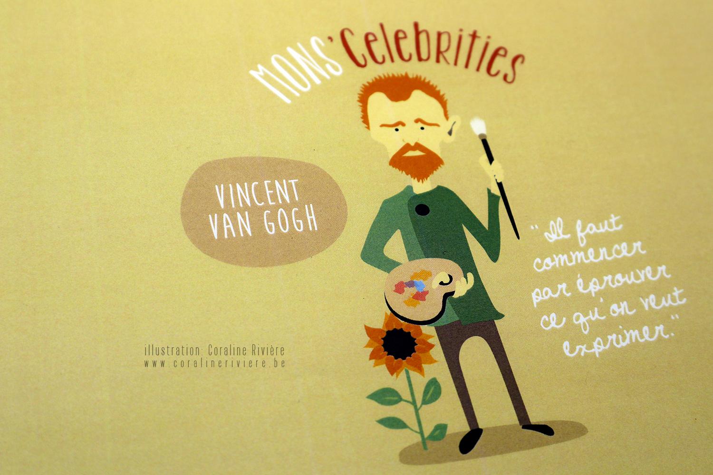 dessin vincent van gogh celebrite mons belgique