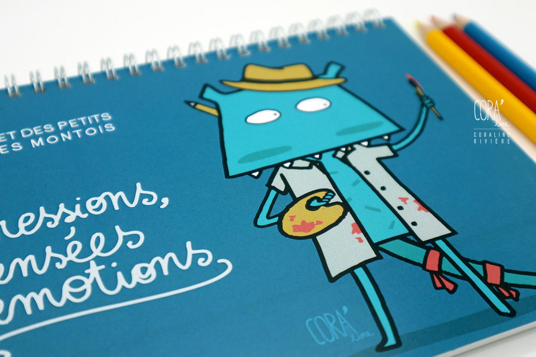 dessiner dessin de la journee pensees carnet pour enfant petit montois