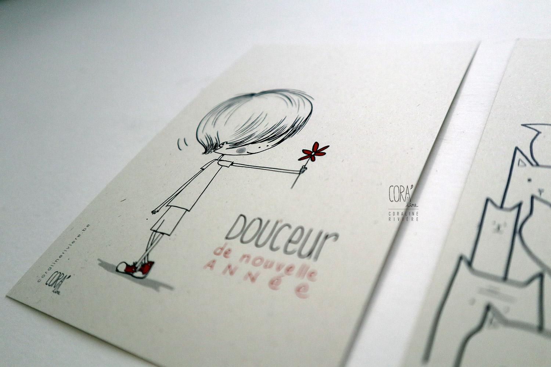 dessins chats oiseau envol offrir fleur douceur poesie cartes voeux
