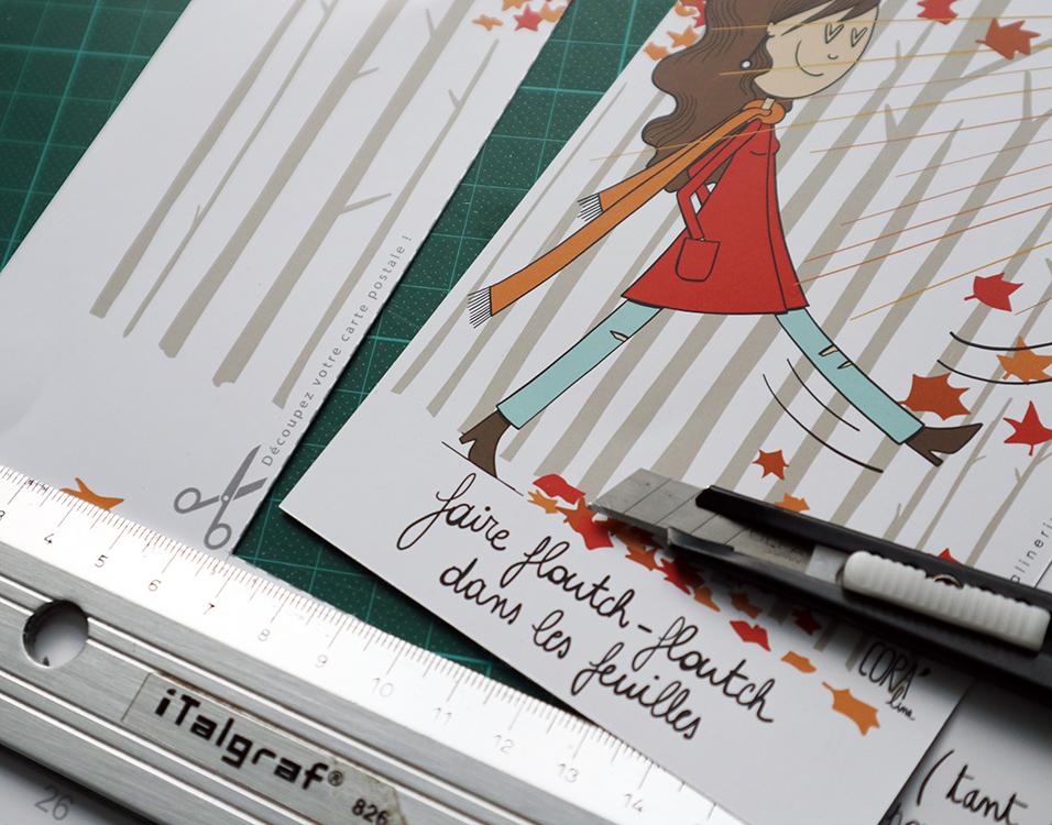 dessins coraline riviere illustratrice belge calendrier2020 carte postale