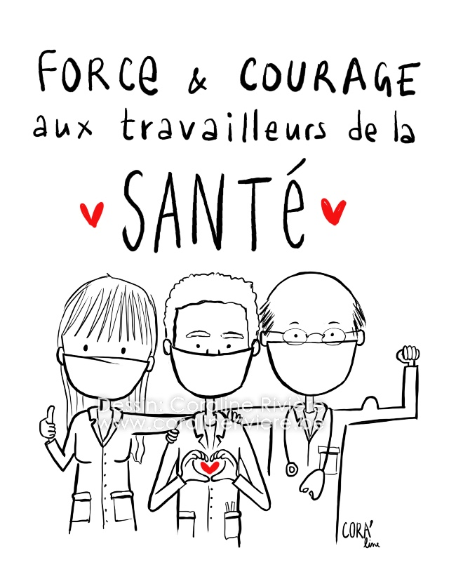 encouragements personnel medical force courage face au covid19