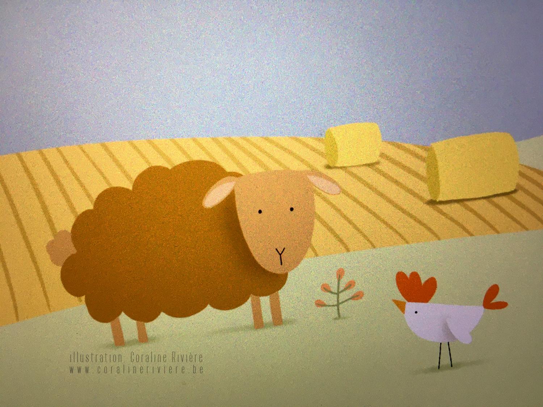 faire part animaux de la ferme campagne ballot de paille