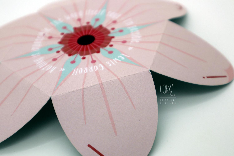 faire part de naissance en forme de fleur cerisier du japon rose pastel vert d eau