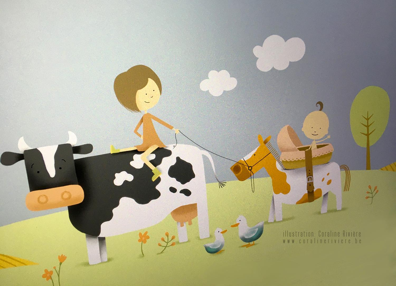 faire part de naissance originale theme ferme animaux campagne