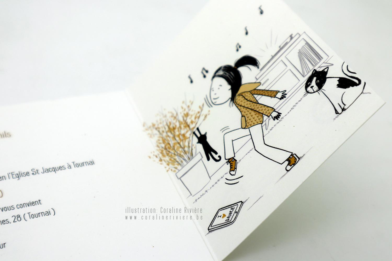 faire part mariage dessin bd petite histoire ambiance bande dessinee