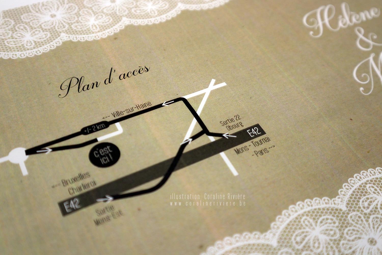 faire part mariage original dentelle et papier kraft