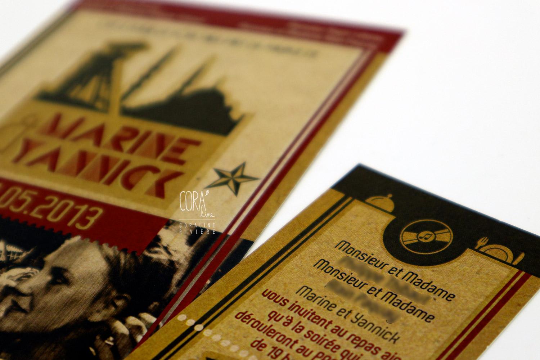 faire part mariage retro photo framerie pass istambul turquie rouge bleu marine vieux journal