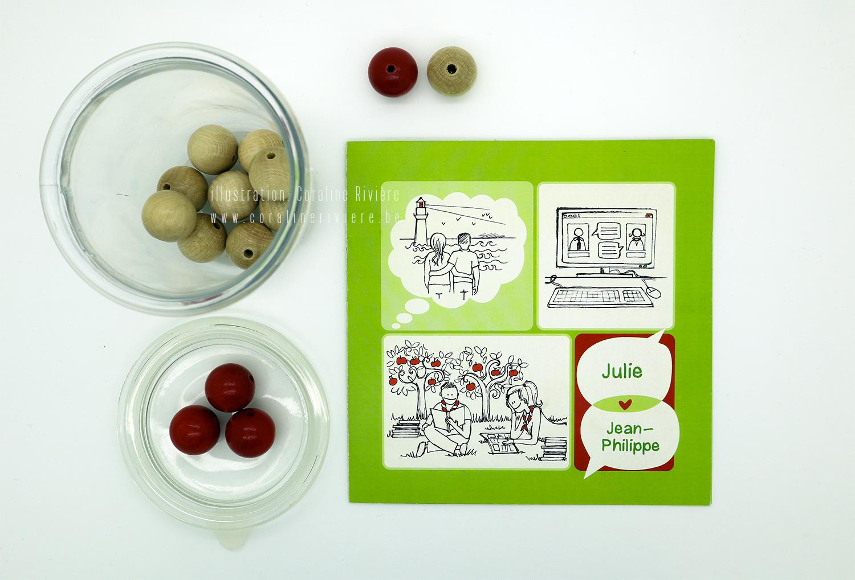 faire part mariage theme bd bande dessinee scout bretagne pomme