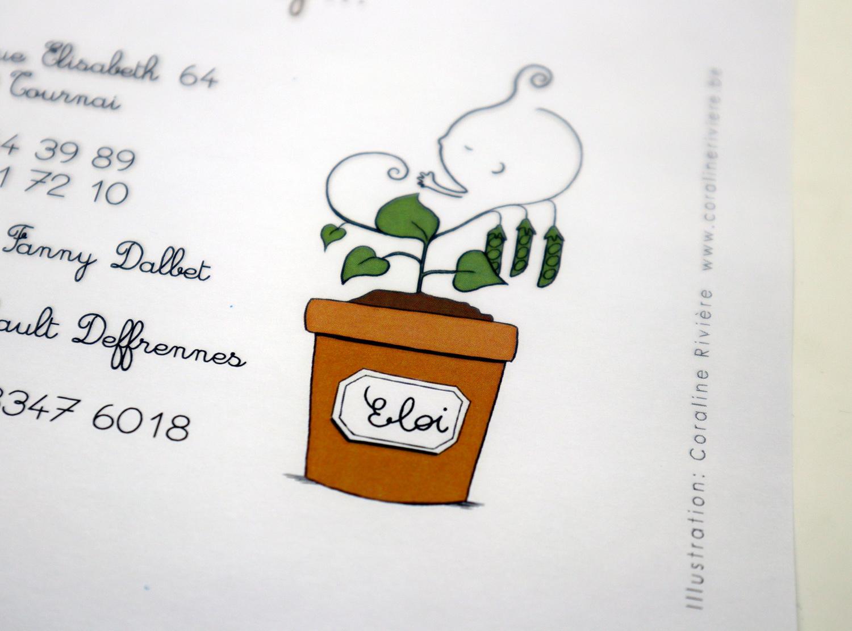 faire part naissance eloi plante petit pois patienter bien pousser