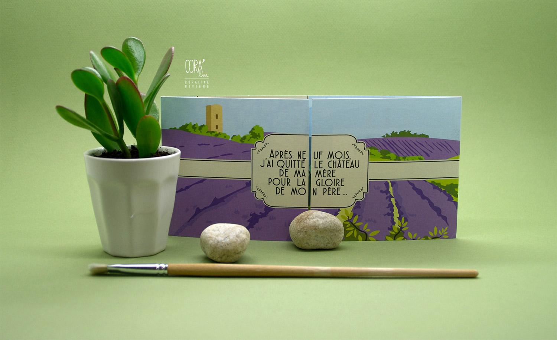 faire part naissance marcel theme provence marcel pagnol champ lavande garrigue